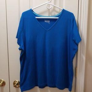 Basic Editions blue shirt sz 2X